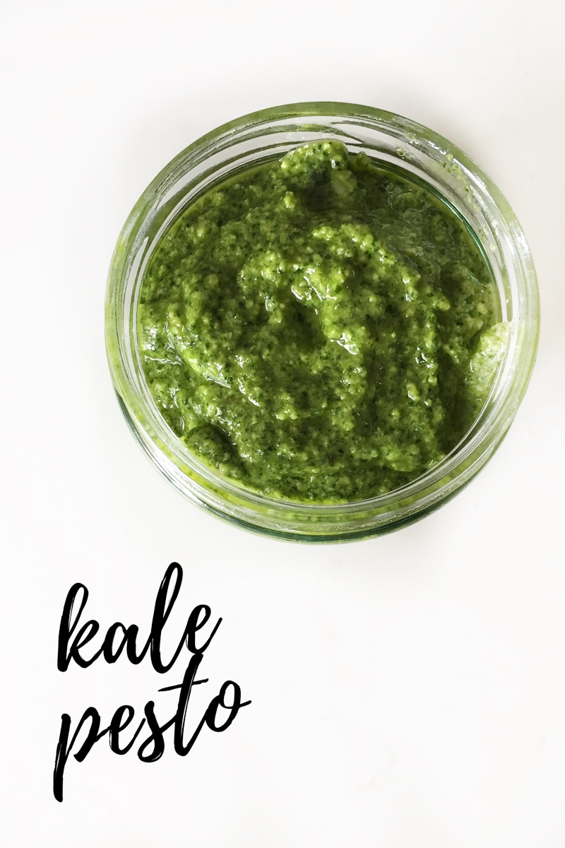 Easy Vegan Kale Pesto
