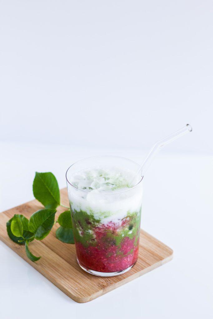 Matcha Strawberry Latte