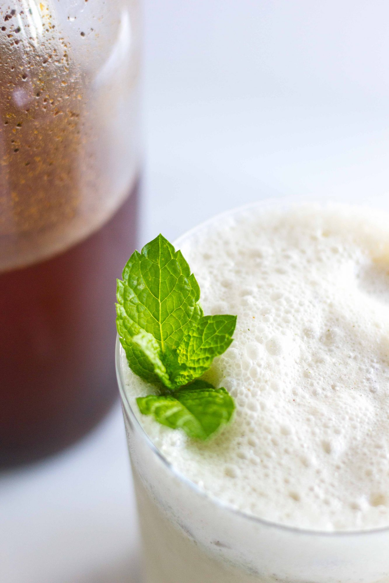 Cold Brew Minty Coconut Latte