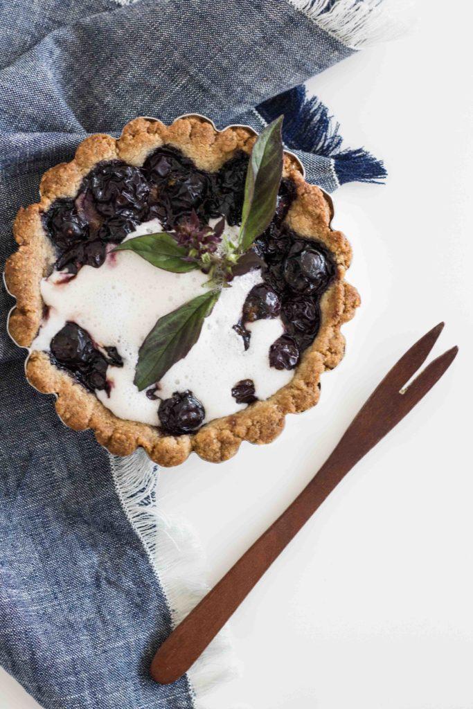 Paleo Vegan Blueberry Tart