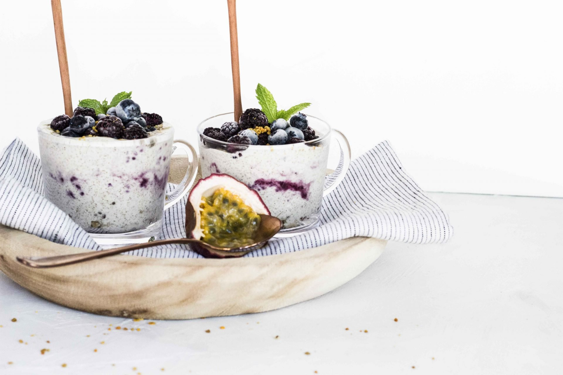 Blueberry Passionfruit Chia Pudding
