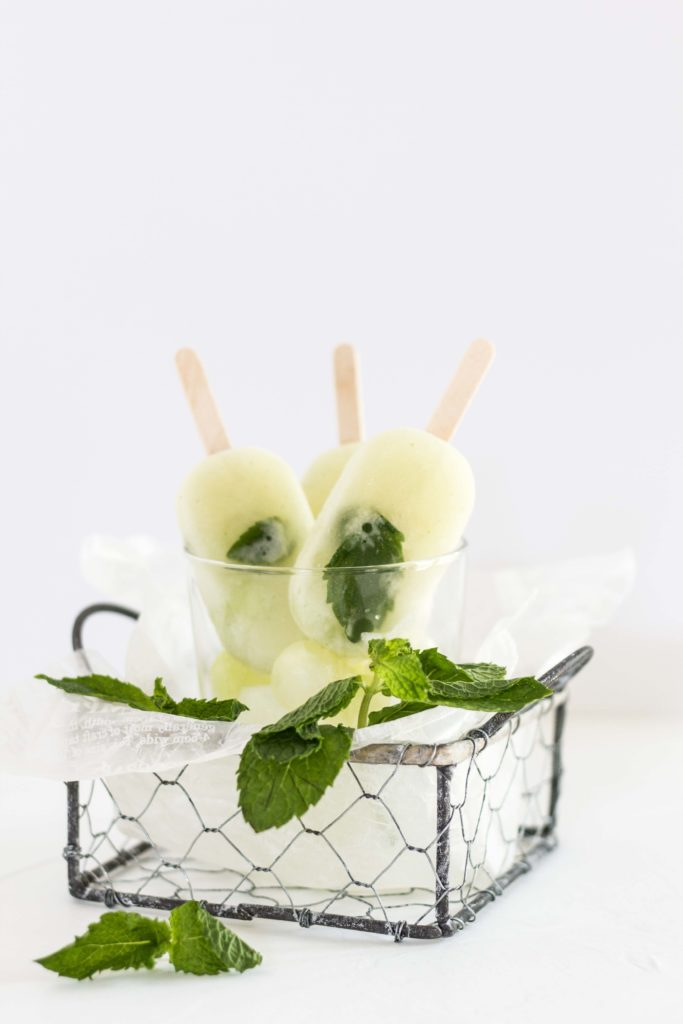 Quick and Easy Mint and Melon Beauty Pops