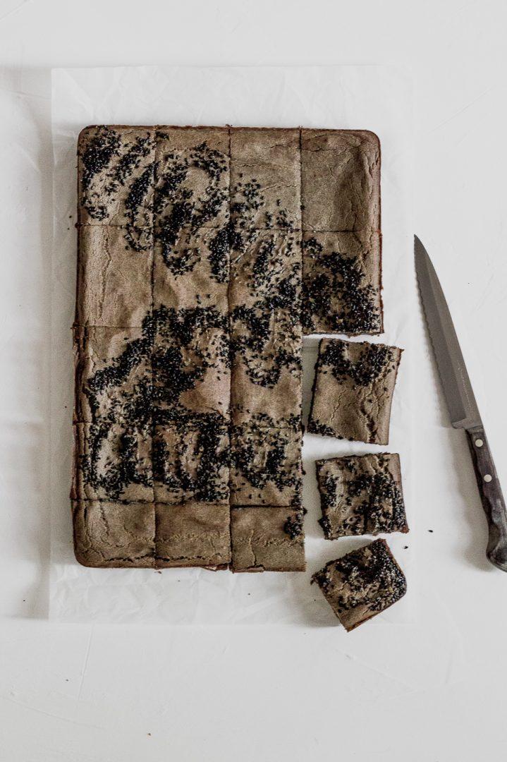 Black Sesame Butter Mochi