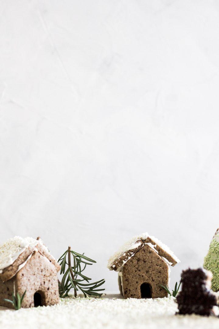 Minimalist Gingerbread Sheet Pan Village