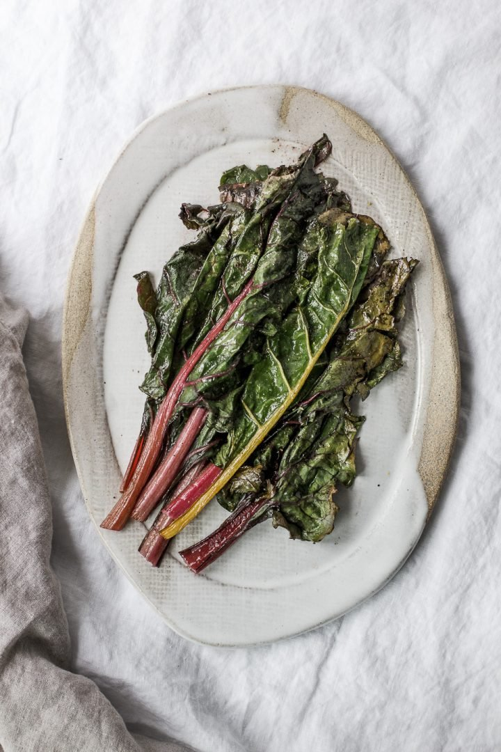 Roasted Rainbow Chard