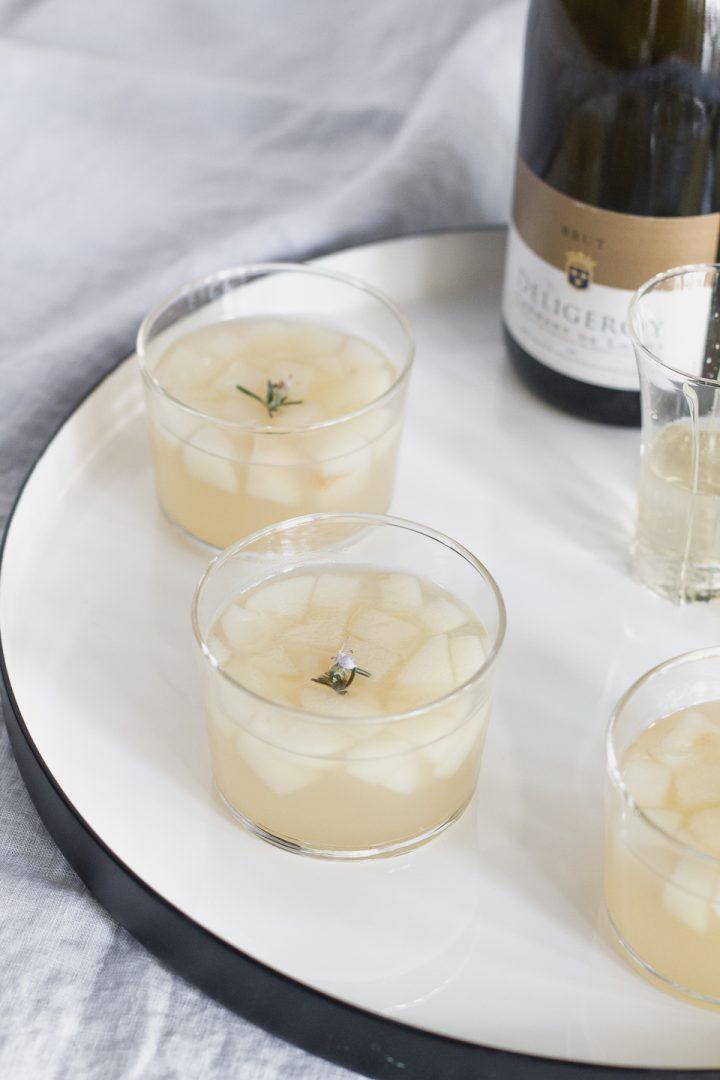 pear rosemary champagne jelly