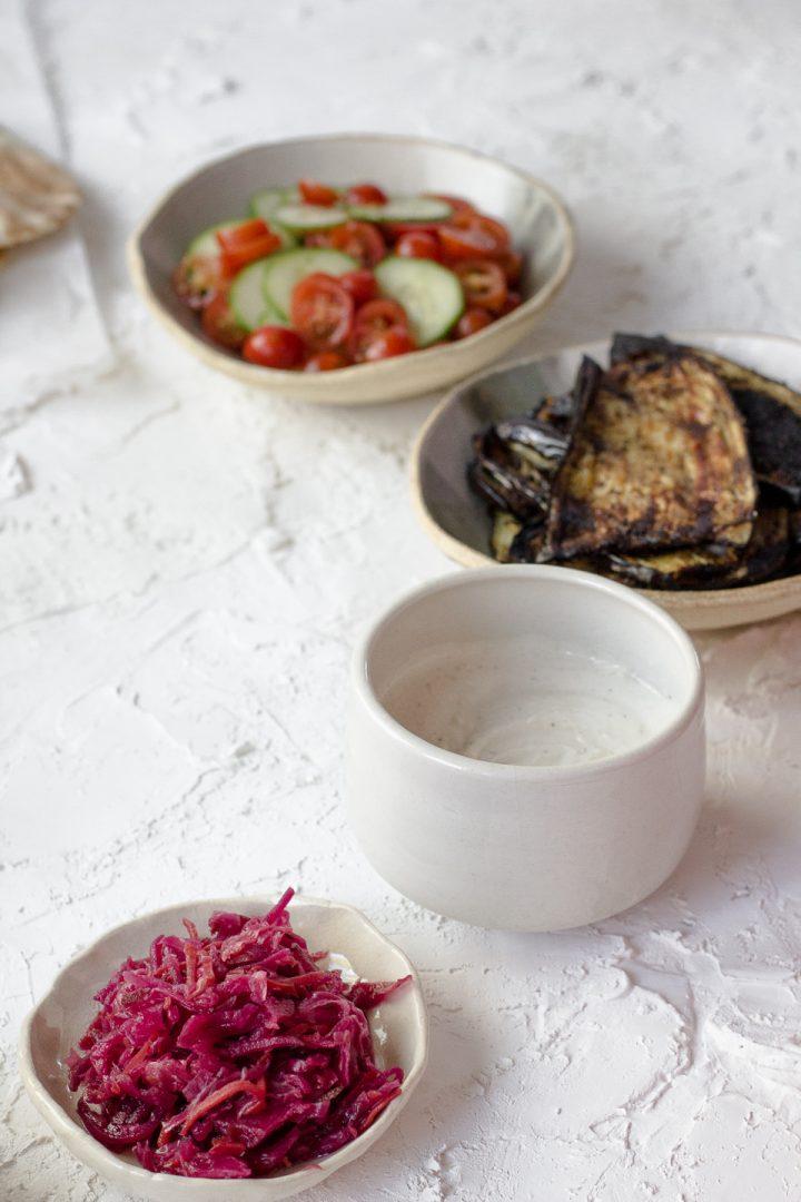 Roasted Eggplant Pita Sandwich