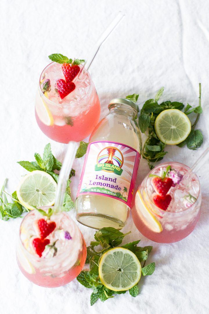 Rosewater Strawberry Lemonade Spritzer-7