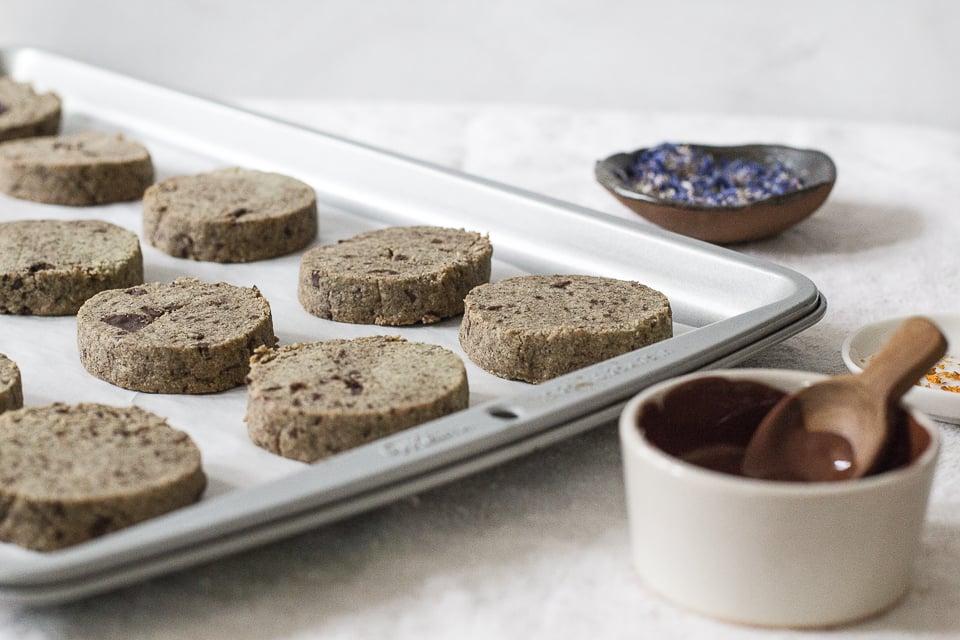 Earl Grey Cream Chocolate Chunk Shortbread Cookies