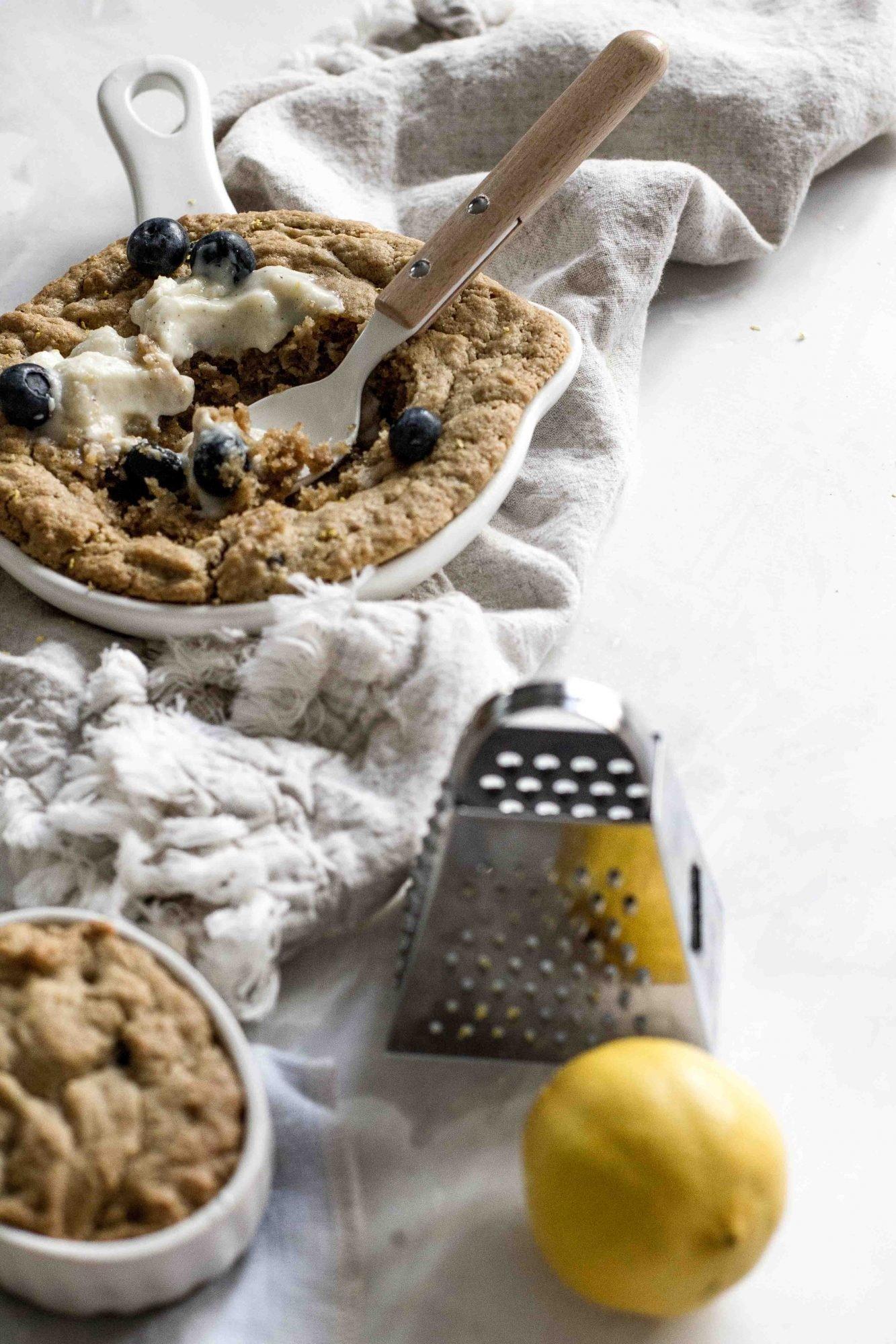 Lemon Blueberry Mini Skillet Cookie