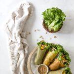 Fresh Lumpia with Cashew Date Sauce