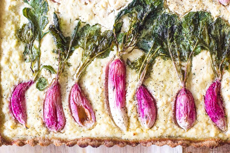 Spring Time Paleo Radish Tart