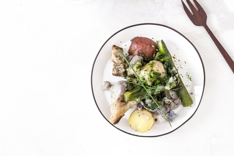 Spring Time Vegan Veggie Miso Gratin