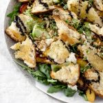 Grilled Peach Panzanella Salad