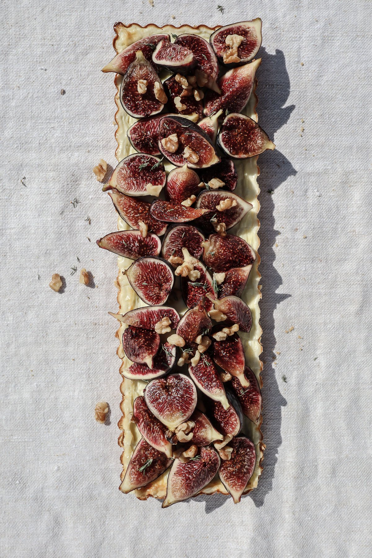 fresh fig tart grain free savory rosemary crust