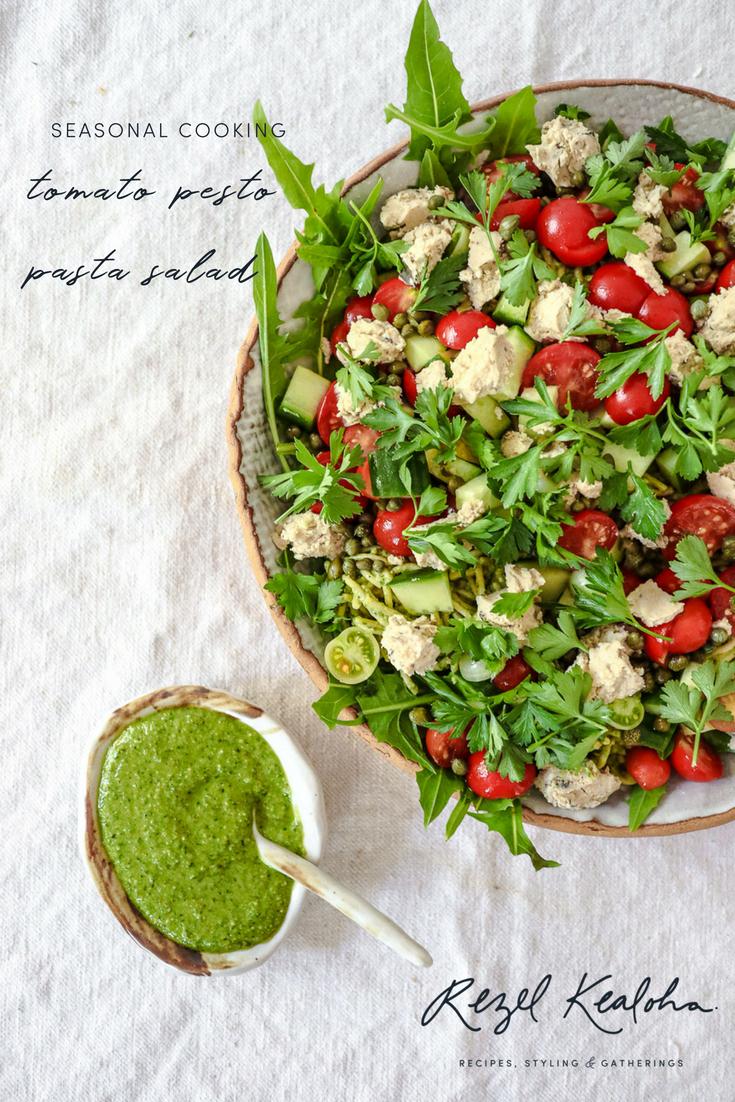 tomato pesto pasta salad