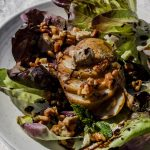 CBD Infused Salad with Roasted Pears and Walnuts