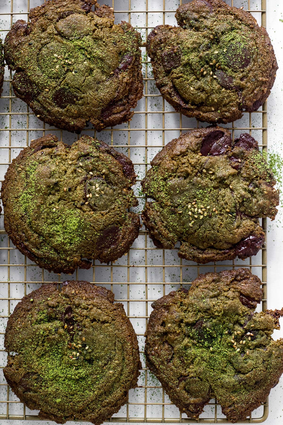 Matcha Pandan Paleo Chocolate Chunk Cookies