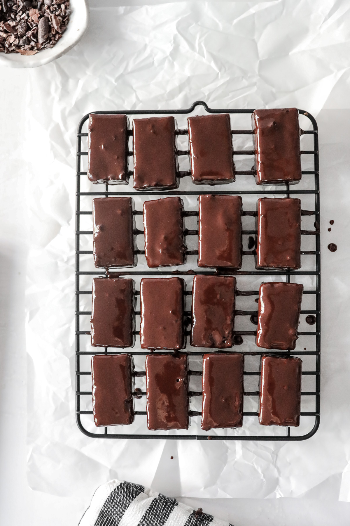 Minty Cake Fudge Bites