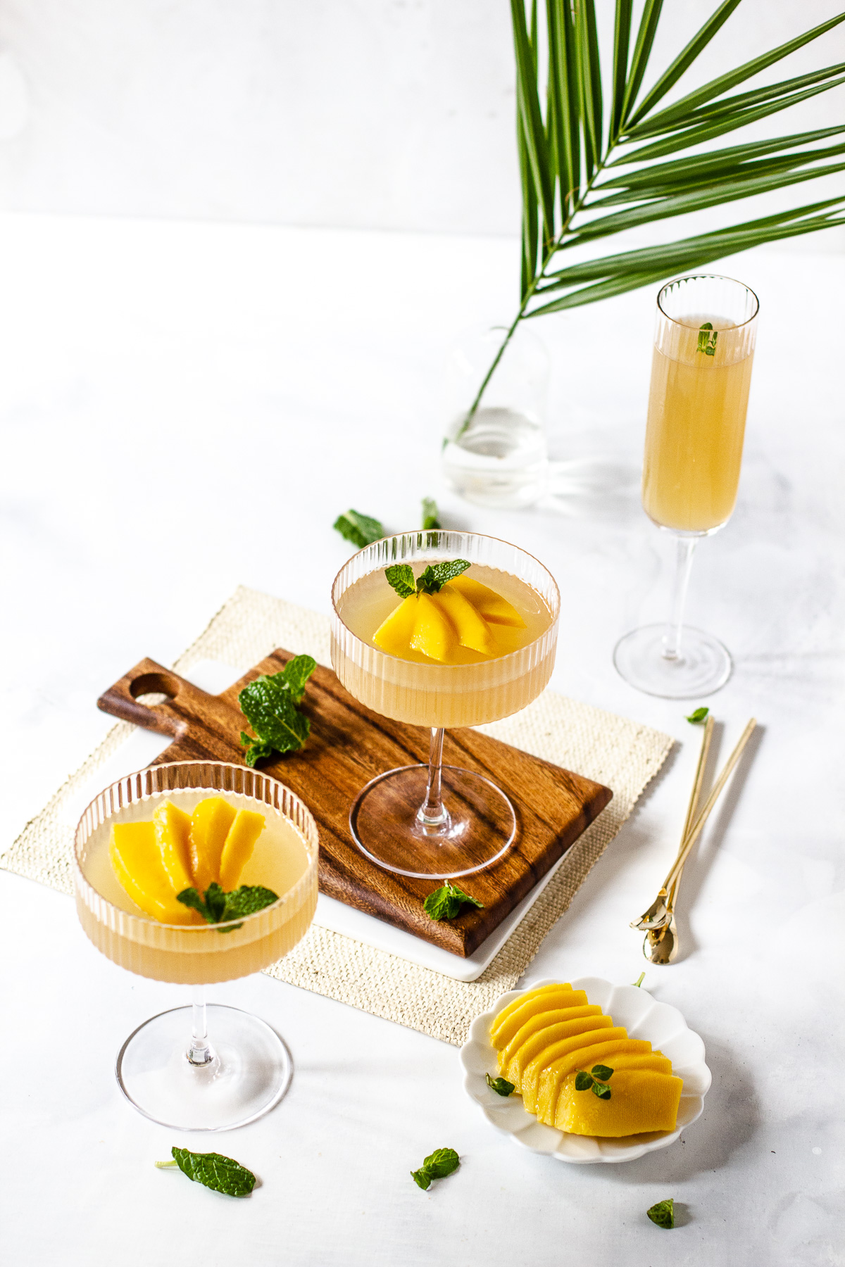 Champagne Gulaman (Jelly) with Mango and Mint