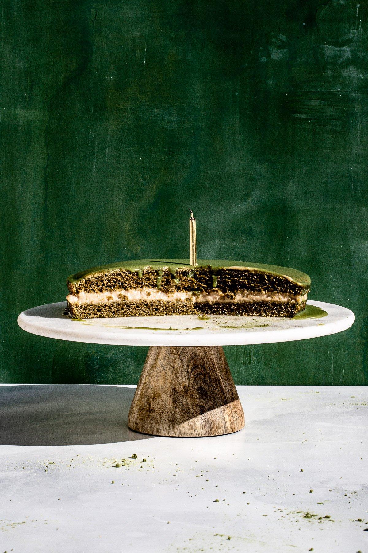 Matcha Boston Cream Pie Recipe