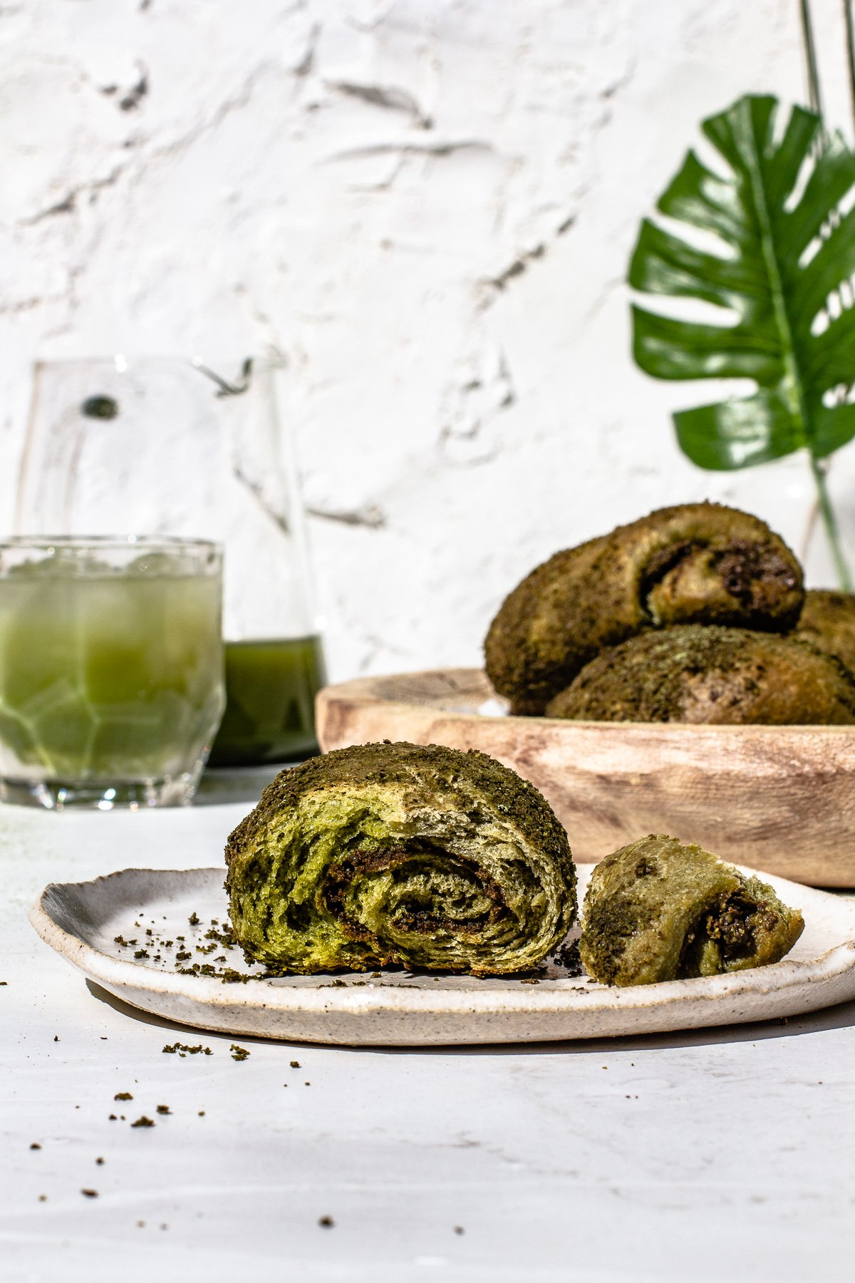 Matcha Spanish Bread