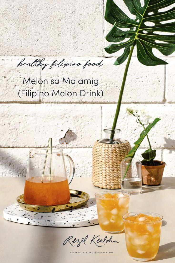 Melon sa Malamig (Filipino Melon Drink)