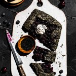 Black Sesame Cherry Galette