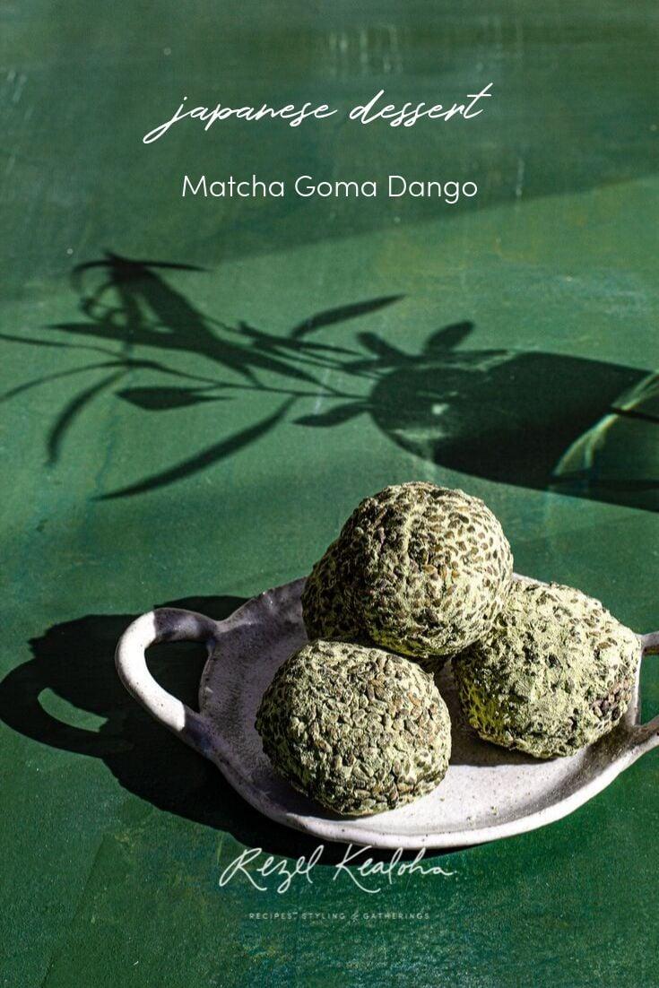 Matcha Goma Dango