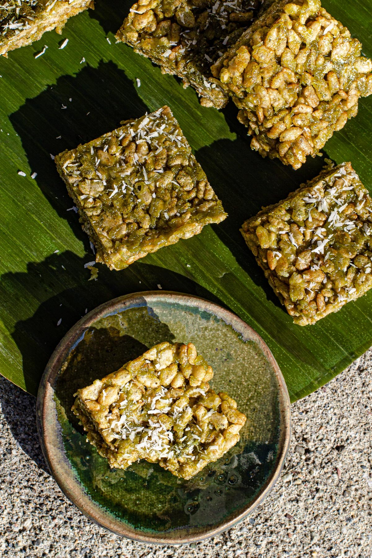 Buko Pandan Rice Krispy Treats