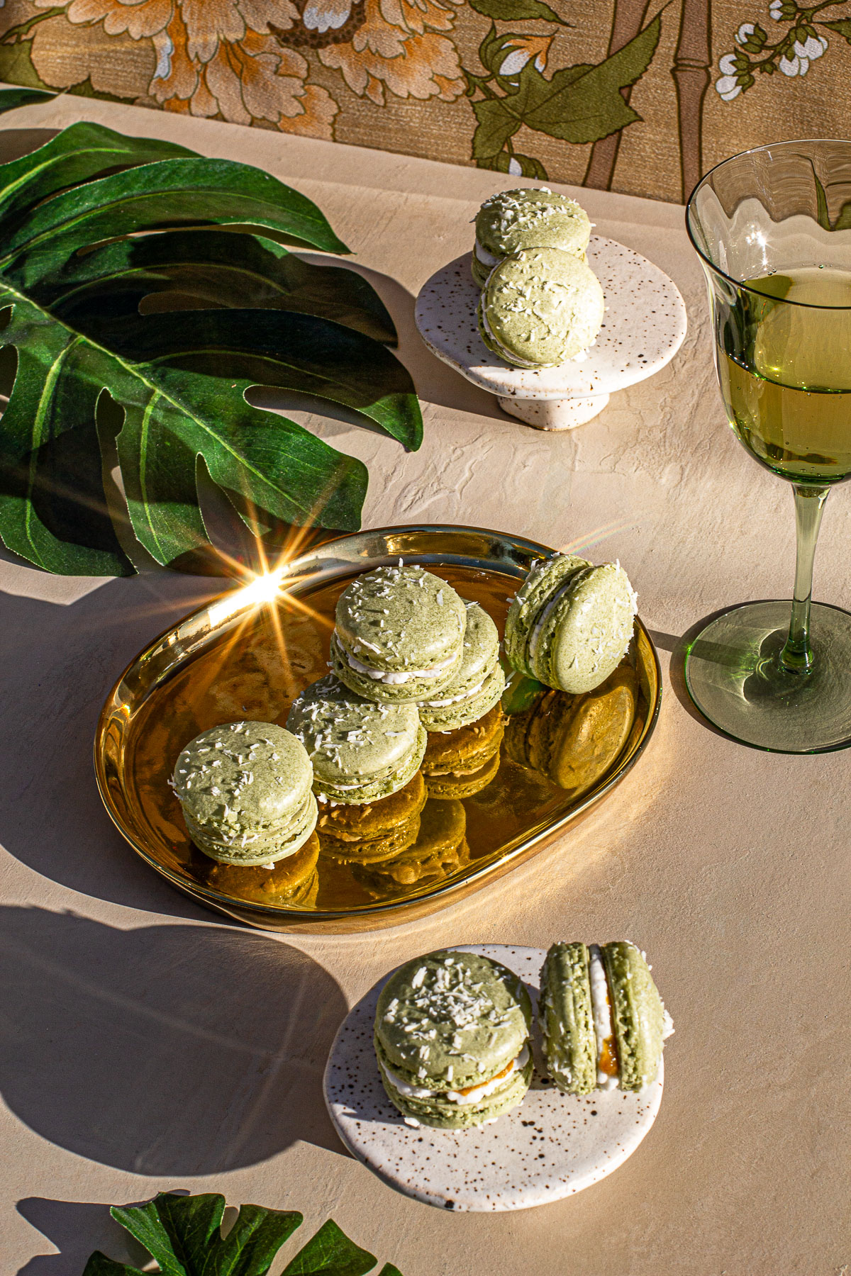 Buko Pandan Macaron with Mango Jelly Recipe