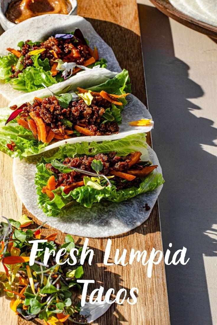 lumpia with singkamas