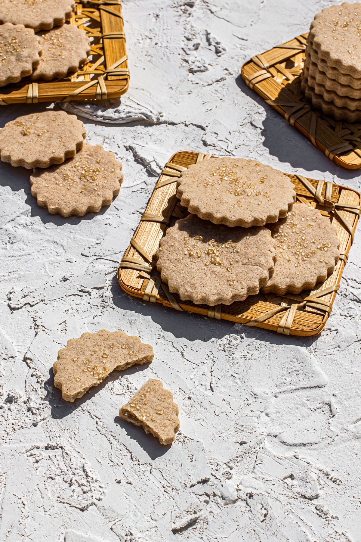 Small Batch Gin Laced Butter Cookies