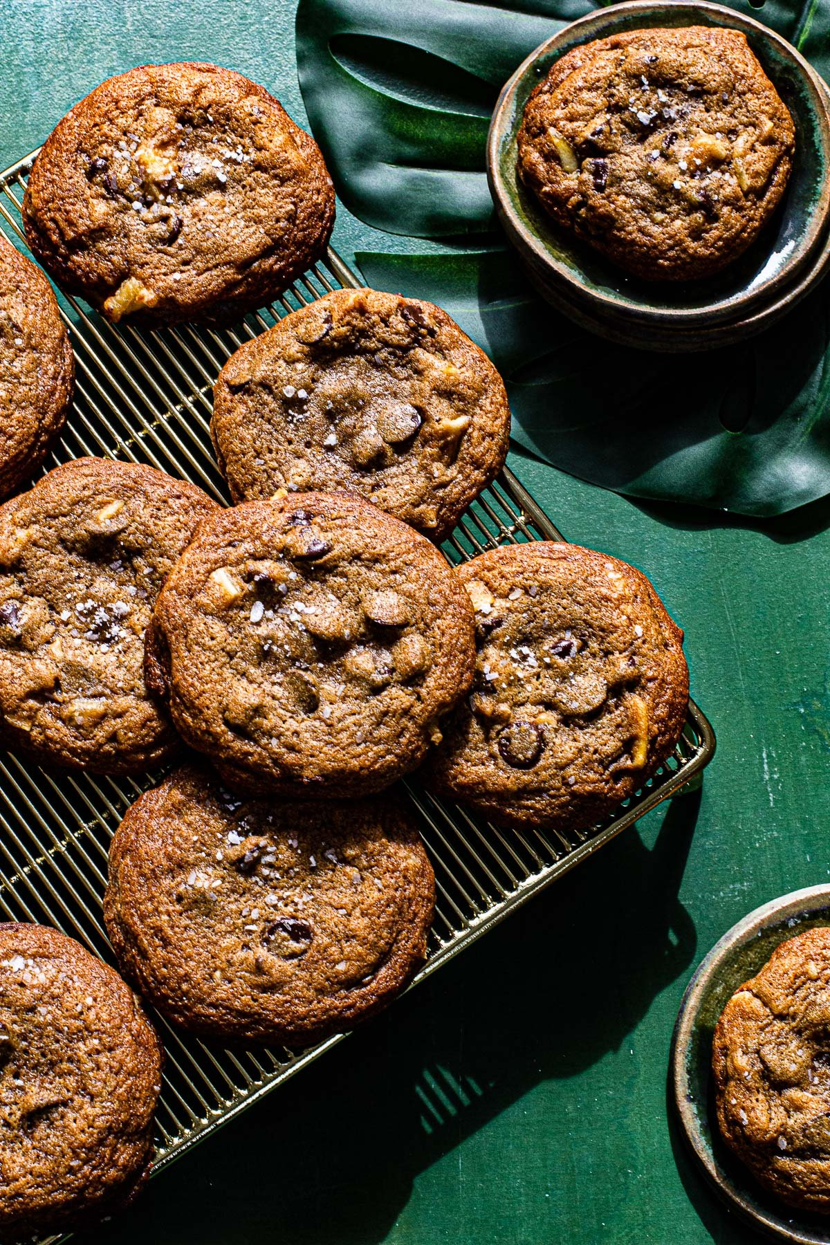 Salty Green Mango Chocolate Chip Cookies