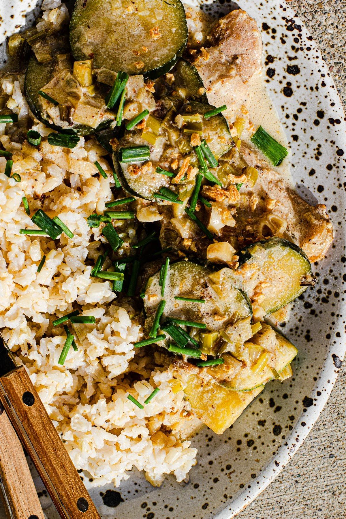 Ginataang Zucchini with Chicken