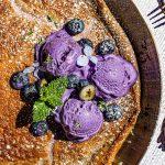 Oven Baked Ube Pancake