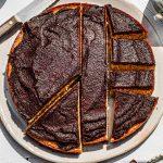 Sliced Matamis Na Bao (Coconut Jam) Cake